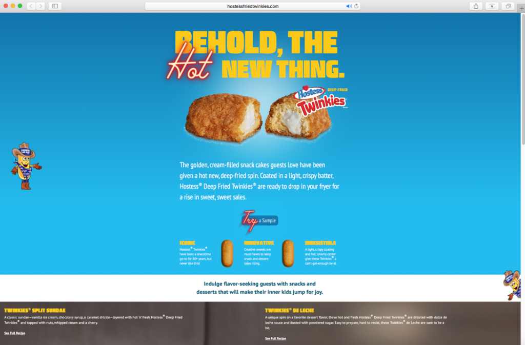 Website For The Fried Twinkie