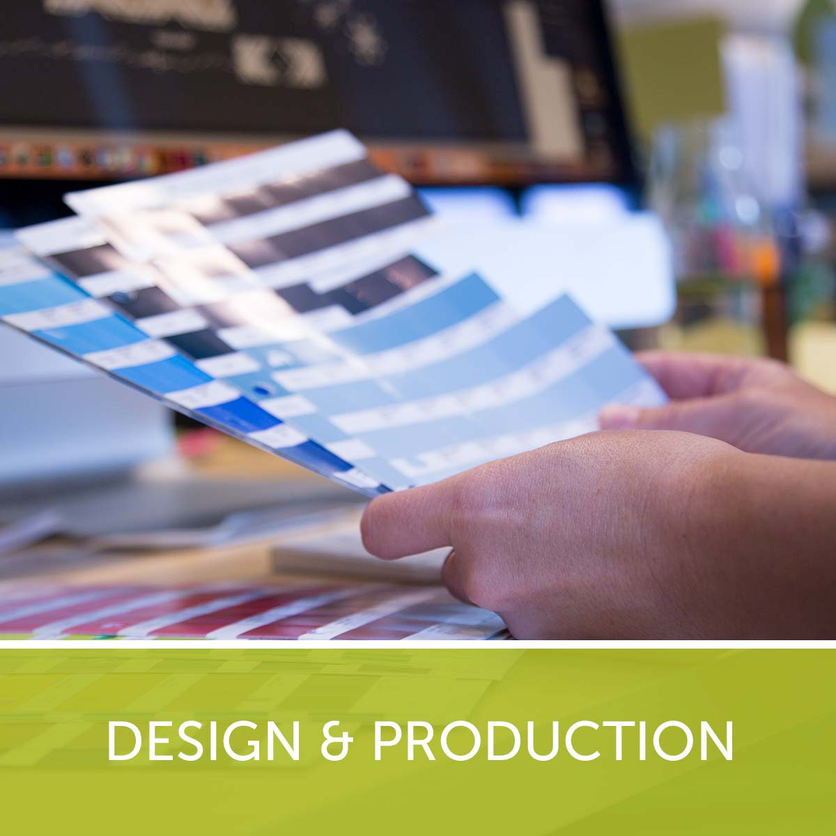 Design & Production: Hands Holding Color Swatches