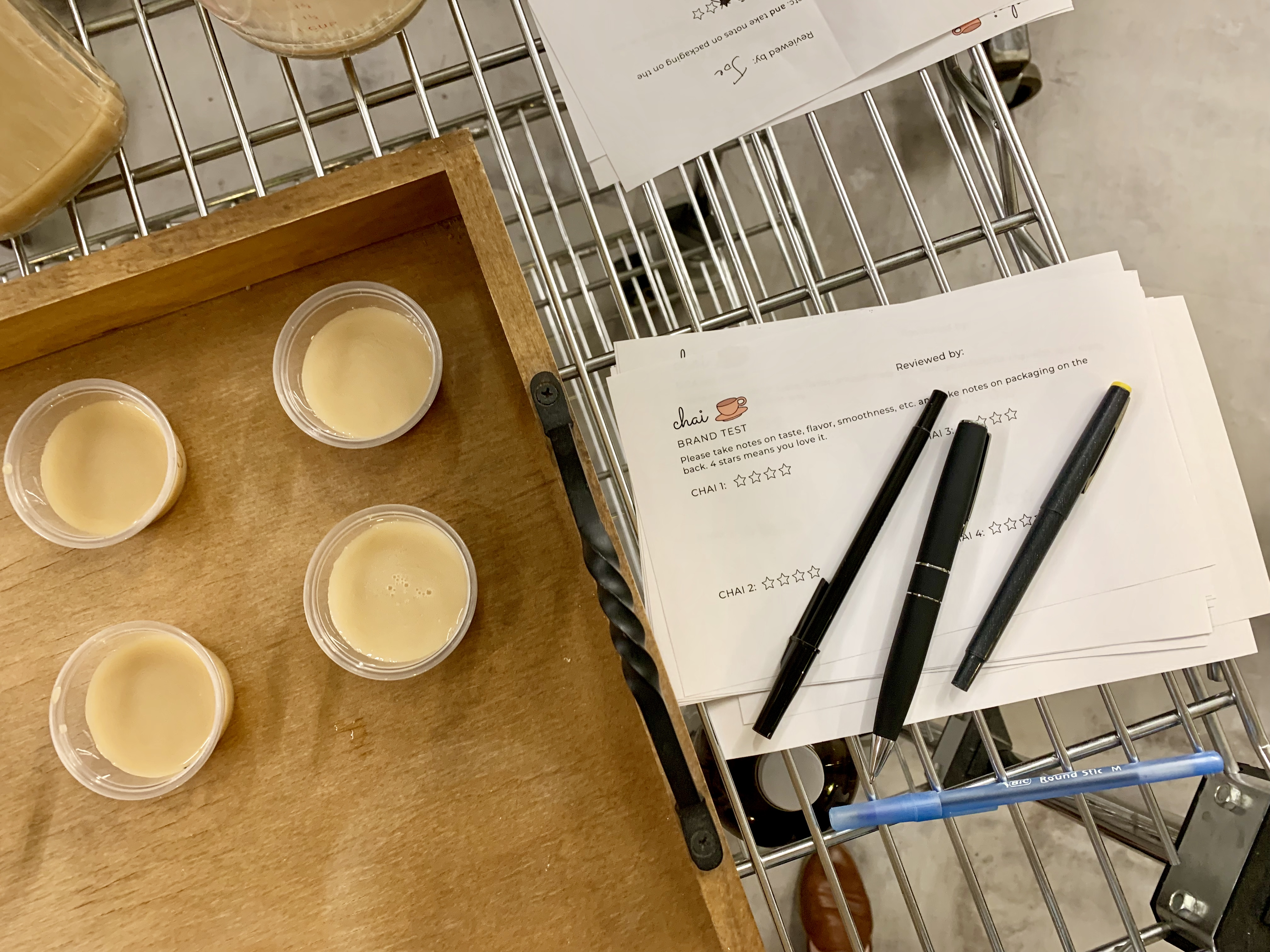 Score Cards To Compare Different Brands Of Chai